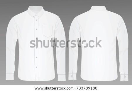 Long sleeve shirt. vector illustration #733789180