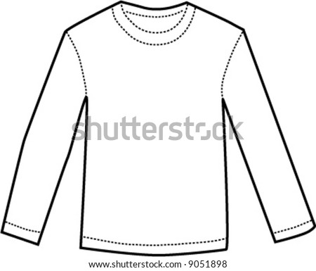 Long Sleeve Shirt Vector Template Long Sleeve t Shirt Template