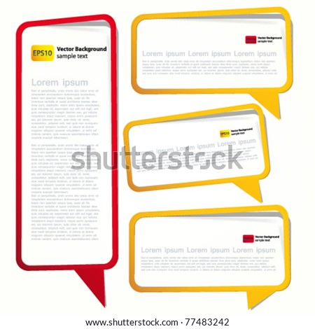 Long sticker in the form of an empty frame for your text.