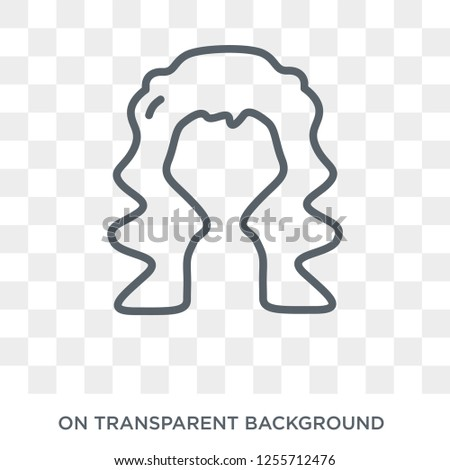 Long wavy hair variant icon. Trendy flat vector Long wavy hair variant icon on transparent background from Human Body Parts collection. High quality filled Long wavy hair variant symbol use for web