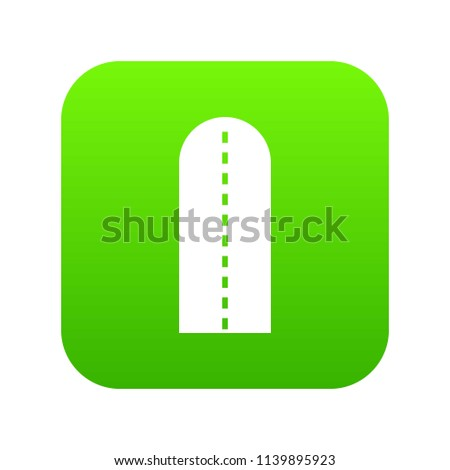 long way icon digital green for