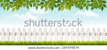 long white fence banner with