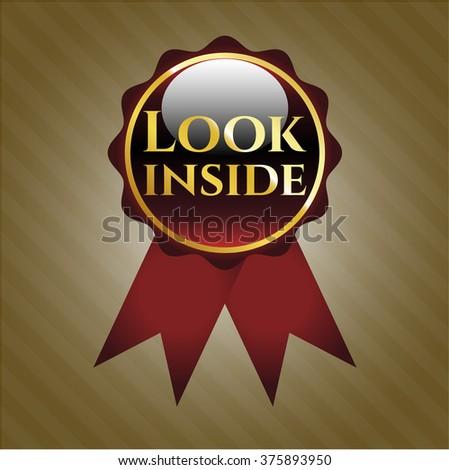 Look inside shiny badge