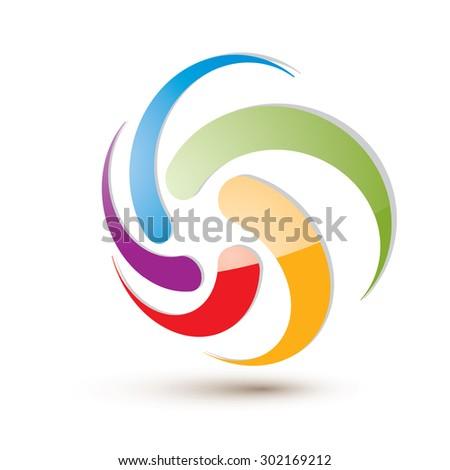 looping arrows vector abstract