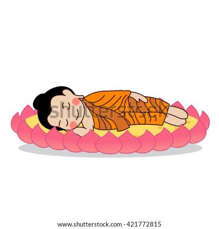 lord buddha's nirvana vector