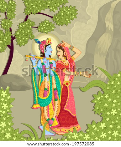 lord krishna and radha in