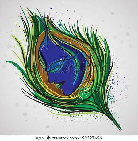 lord krishna magical feather