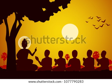 Lord of Buddha sermon to five ascetics and was enlighten become first monk of Buddhism