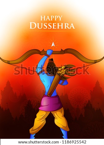 lord rama in happy dussehra
