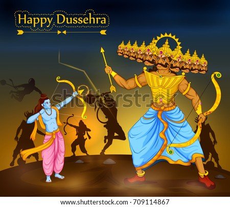 lord rama killing ravana during