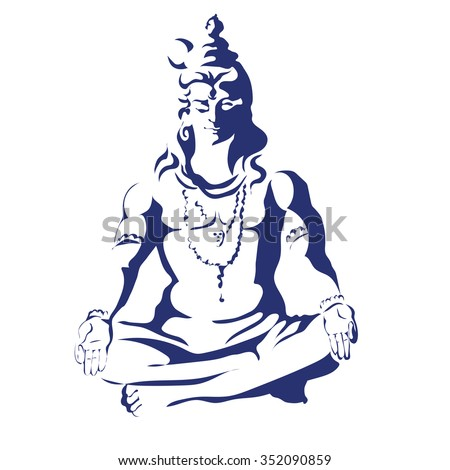 lord shiva in the lotus
