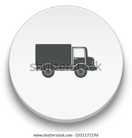 lorry flat icon