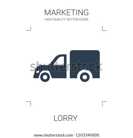 lorry icon. high quality filled lorry icon on white background. from marketing collection flat trendy vector lorry symbol. use for web and mobile