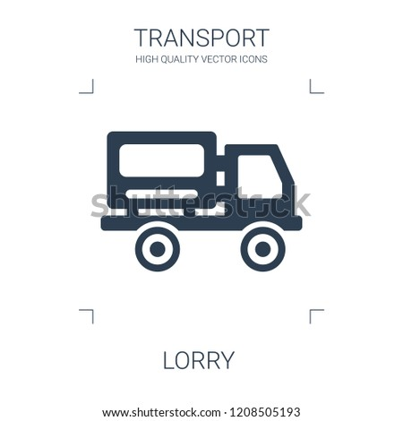 lorry icon. high quality filled lorry icon on white background. from transport collection flat trendy vector lorry symbol. use for web and mobile