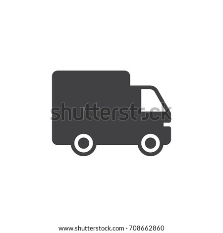 Lorry icon vector, filled flat sign, solid pictogram isolated on white. Shipping truck symbol, logo illustration. Pixel perfect vector graphics