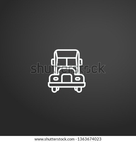 Lorry linear vector icon. Modern outline Lorry logo concept from Transportation collection. Suitable for use on web apps, mobile apps and print media.