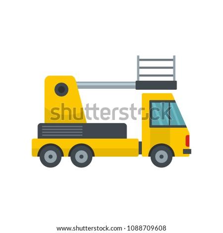 Lorry platform icon. Flat illustration of lorry platform vector icon for web