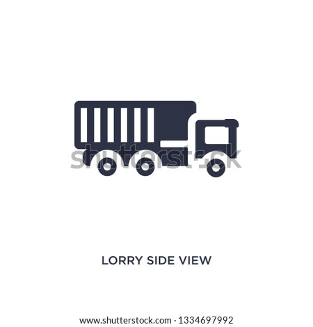 lorry side view icon. Simple element illustration from mechanicons concept. lorry side view editable symbol design on white background. Can be use for web and mobile.