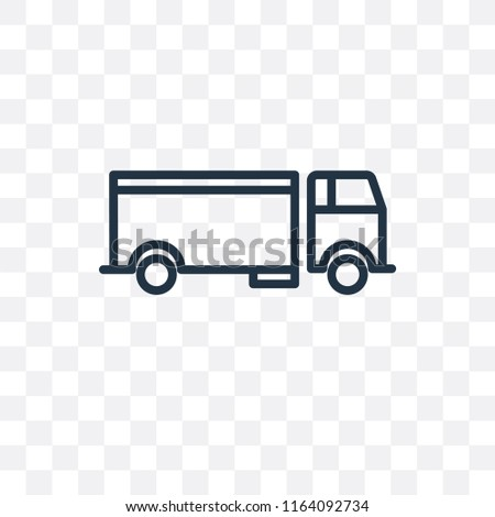 Lorry vector icon isolated on transparent background, Lorry logo concept