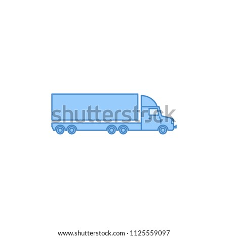 lorry with a trailer filled outline icon. Element of transport icon for mobile concept and web apps. Thin line lorry with a trailer filled outline icon can be used for web