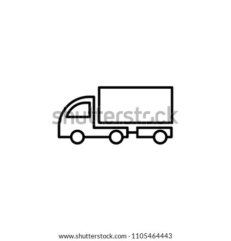 lorry with a trailer outline icon. Element of logistic icon for mobile concept and web apps. Thin line lorry with a trailer outline icon can be used for web and mobile on white background