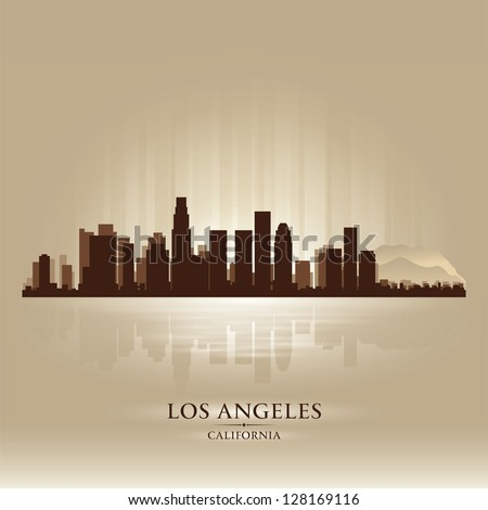 Los Angeles, California skyline city silhouette
