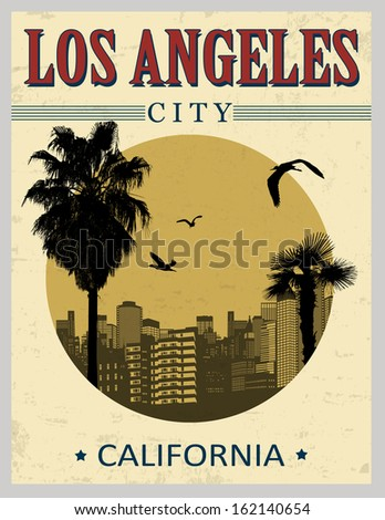 los angeles city from...