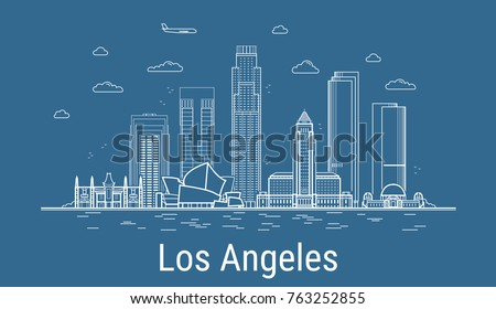 los angeles city  line art