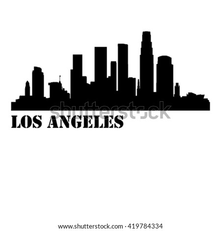 los angeles city vector