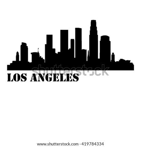 los angeles city vector