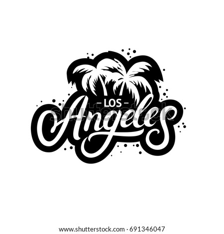 los angeles hand written