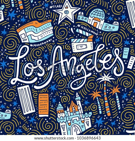 los angeles   lettering and