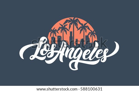 los angeles lettering t shirt