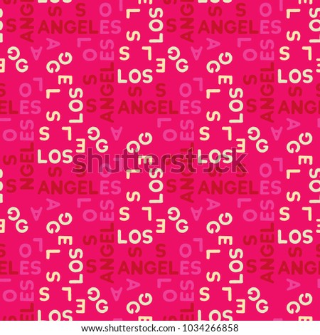 los angeles seamless pattern
