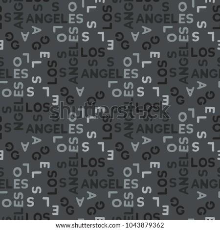 los angeles seamless pattern