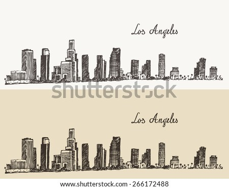 los angeles skyline  california ...