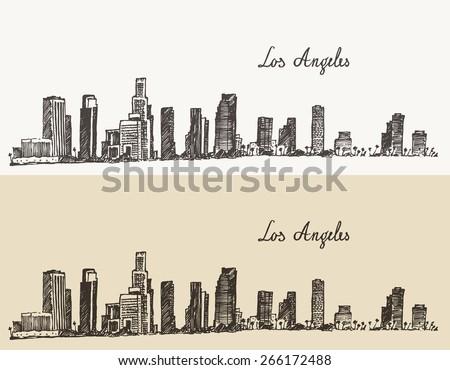 los angeles skyline  california ...