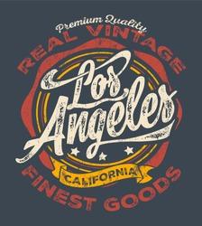 los angeles sport typography, t-shirt graphics, vectors