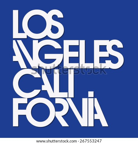 los angeles sport typography  t