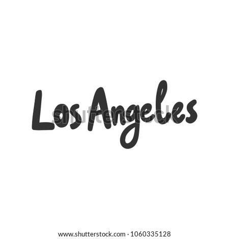 los angeles sticker vector for