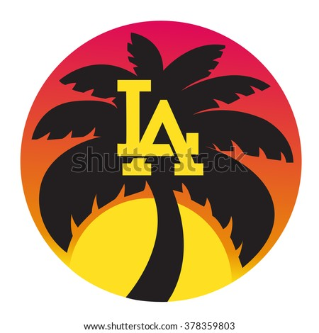 los angeles typography for t