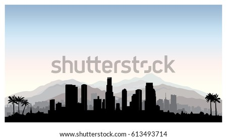los angeles  usa skyline city