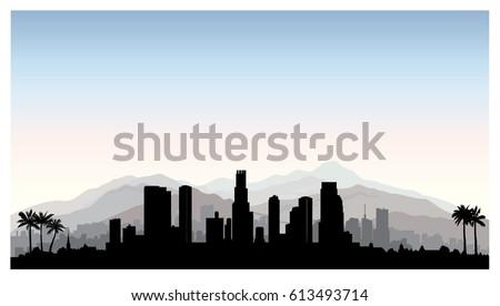 los angeles  usa skyline city