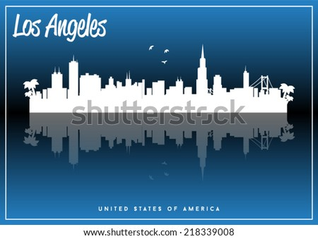los angeles  usa skyline