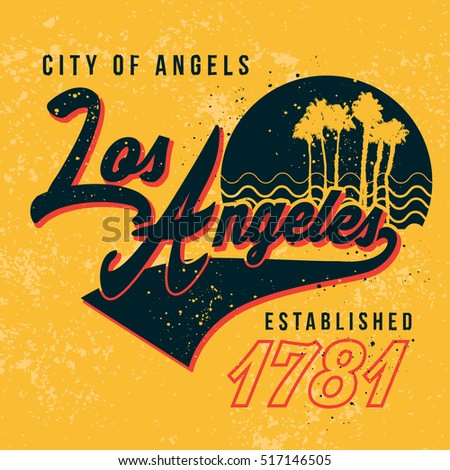 los angles graphic tee design