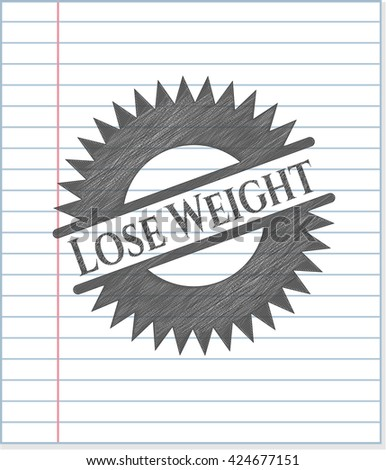 Lose Weight draw (pencil strokes)