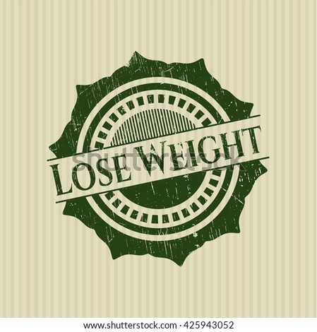 Lose Weight rubber stamp with grunge texture