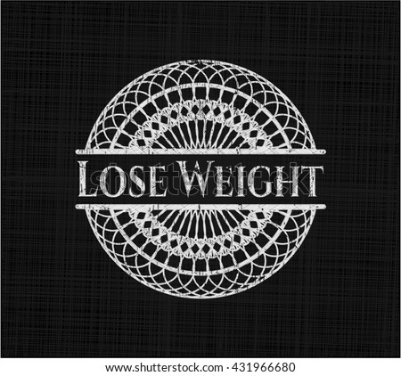 Lose Weight written on a blackboard