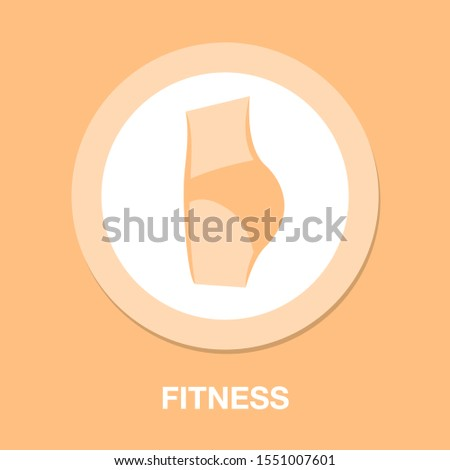 losing weight. Weight loss icon, fitness and sport, slim body with measuring tape sign vector graphics, healthy diet