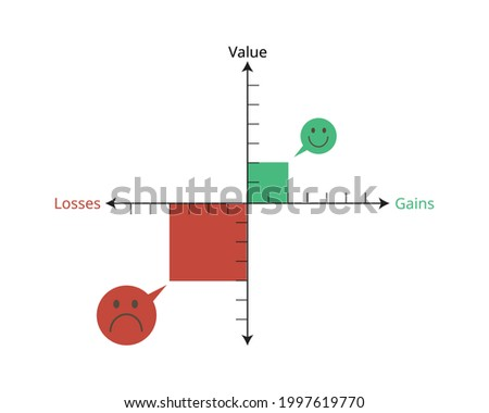 loss aversion which Pain from Loss is bigger than Pleasure from Gain Foto stock ©